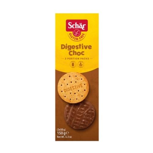 Schär Digestive Choc gluténmentes csokis keksz, 150 g