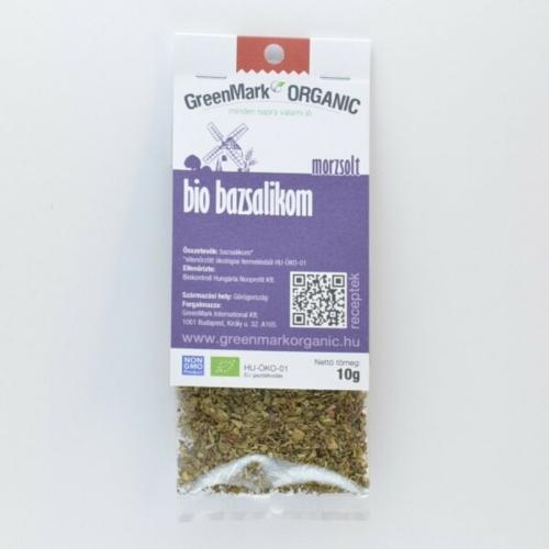 Bio bazsalikom, morzsolt, 10 g