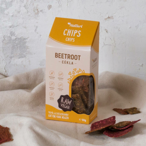 NaTuri RAW Cékla chips, 50 g