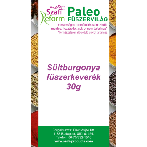 Szafi Reform Paleo Sültburgonya fűszerkeverék, 30 g