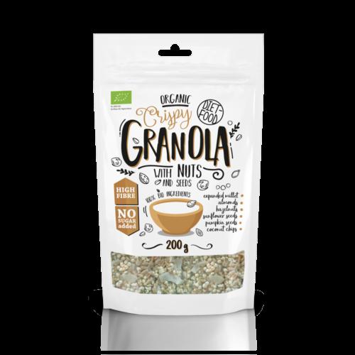 Bio granola diófélékkel